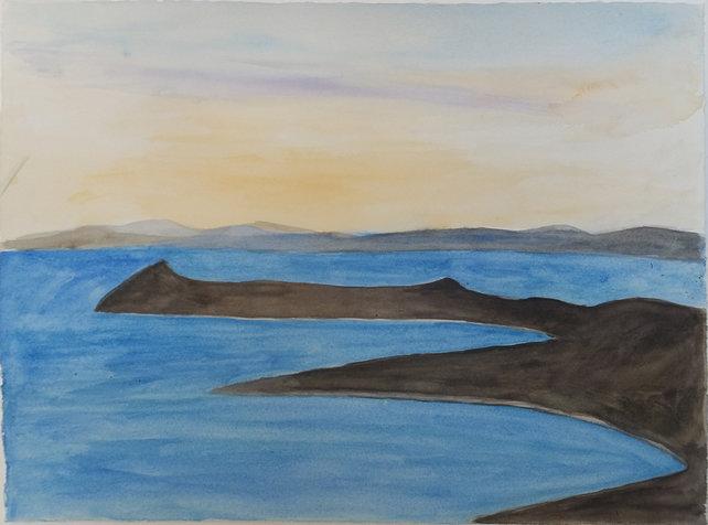 ים והרים (דמות שוכבת) 28.2X38.2