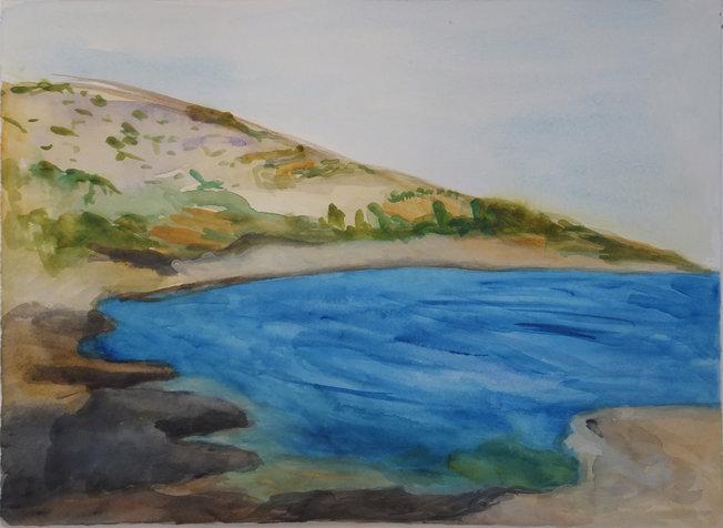 ים והרים, מפרץ (פה), 28X38 סמ