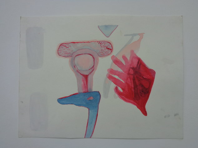 red hand 24X32 cm