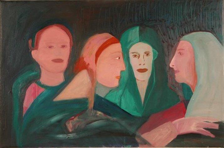 הביקור (אחרי פונטורמו) 45x68 סמ,  2005