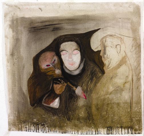 הדלקה, 175x114 סמ, 2007, אוסף פרטי