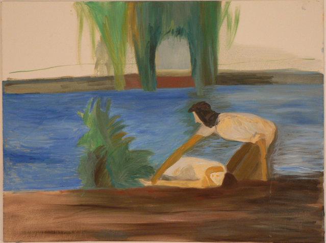 בנהר, 60X80 סמ, 2010, אוסף פרטי.