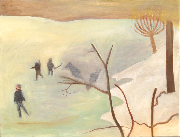 החלקה, 70x90 סמ, 2005, אוסף פרטי