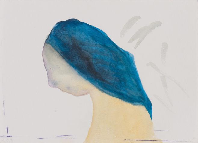 צבעי מים  על נייר, מתועד בספר העלה והעין, 2014. אוסף, פרטי.