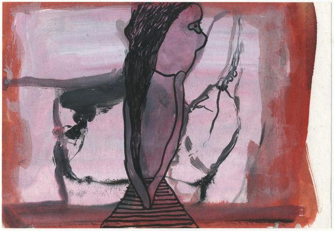 טכניקה מעורבת על נייר, 2004. אוסף, דיויד גלזמן