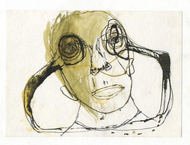 דיו על נייר, 2004. אוסף דייויד גלזמן.