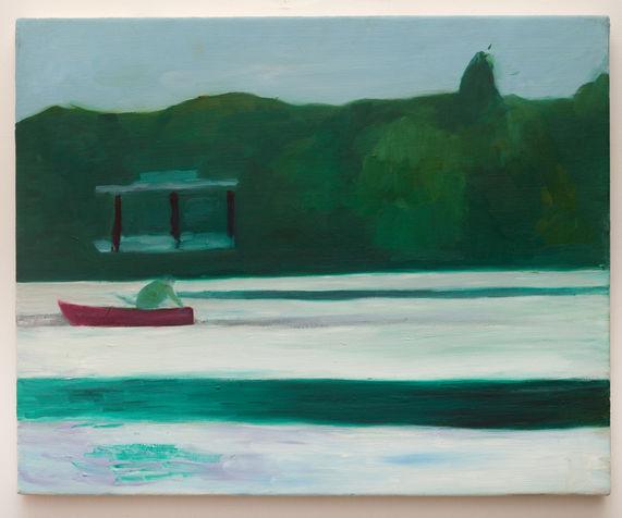 סירה באגם 35X45 סמ