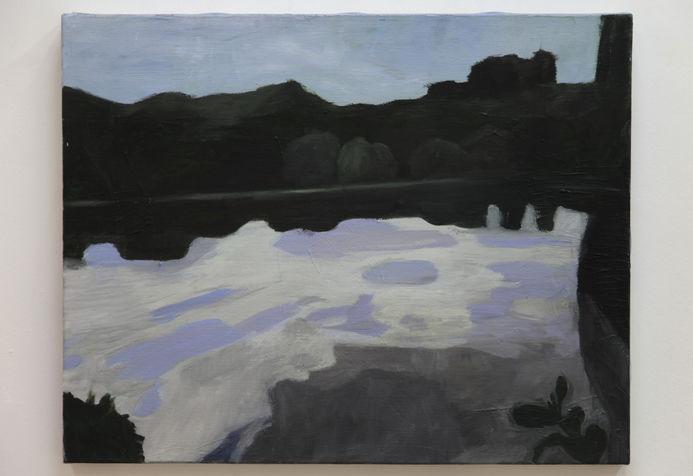 עננים באגם, 45X56 סמ