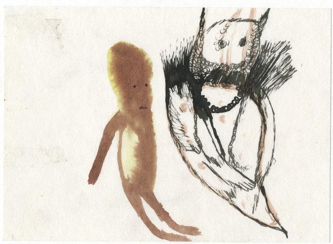 שד וילד, 15x21 סמ, 2005, אוסף פרטי.