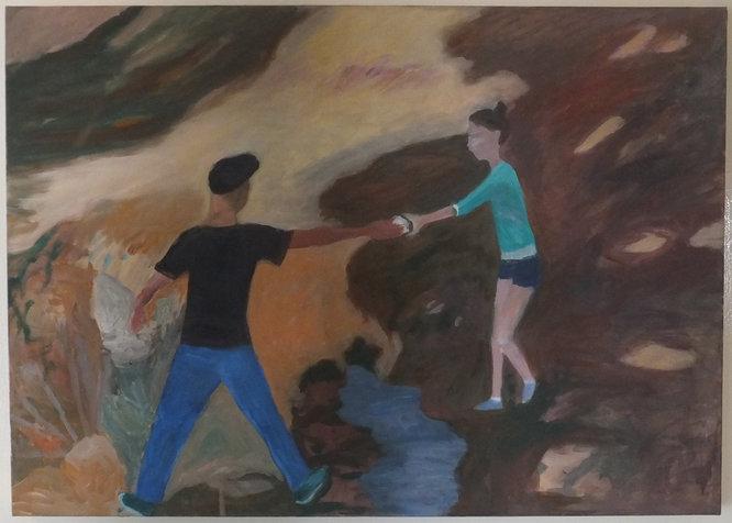 מסירה, 54X76 סמ, 2012, אוסף פרטי