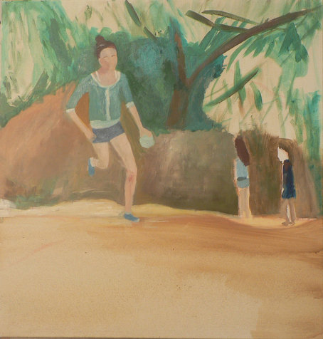 שרון רצה, 44.5x43 סמ, 2012. אוסף פרטי.