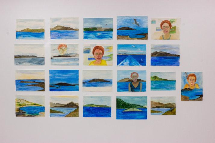 איתקה, יוון, צבעי מים על נייר