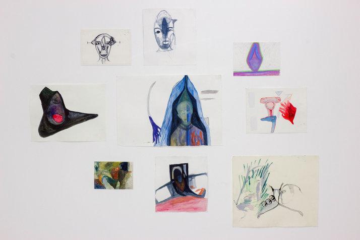 דמיון, צבעי מים על נייר